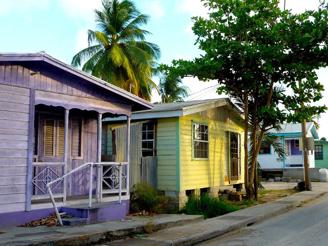 Barbados village street in Six Men's