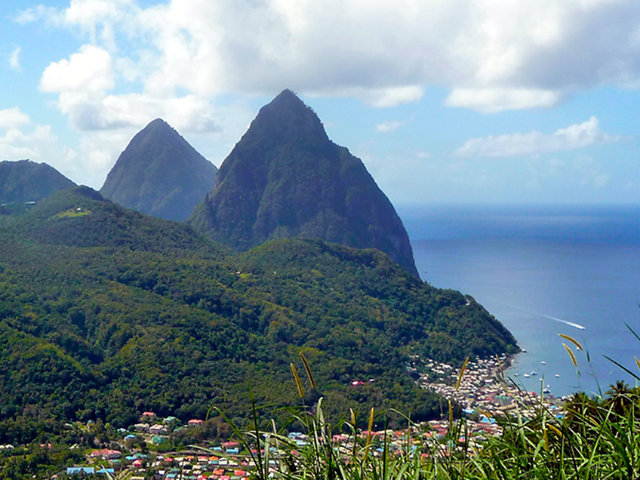 St. Lucia Piton mountains