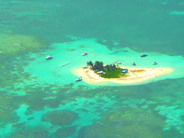 Tropical small Caribbean island location