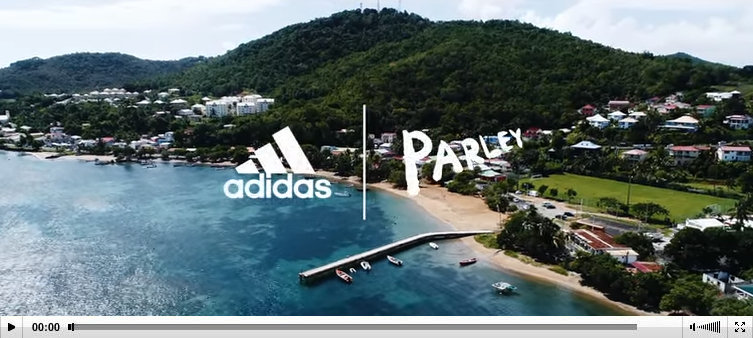 Adidas parley commercial video Coralie Balmy Martinique
