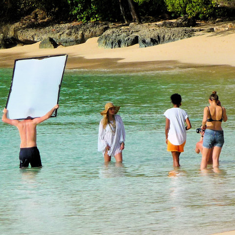 Fashion photo shoot Barbados beach