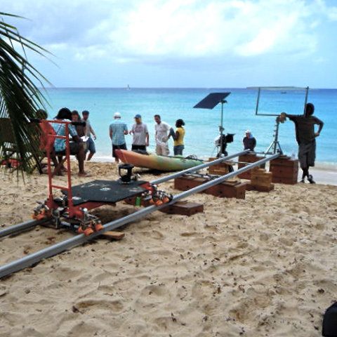 Video shoot sur plage des caraibes