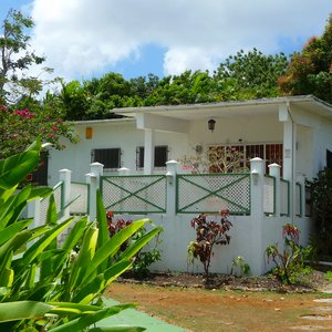 Caribbean middle class house with garden for shoot location