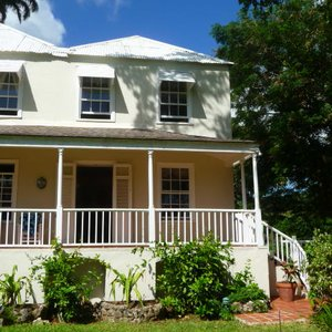 Caribbean plantation house in traditional building style