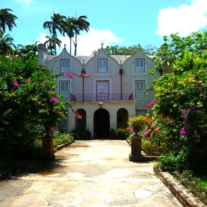 Plantation house in old Caribbean architecture