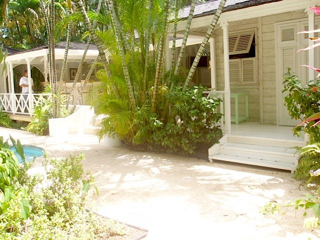 Tropical Colonial White Wood House Veranda Location