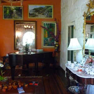 Lived in colorful Caribbean colonial style interior