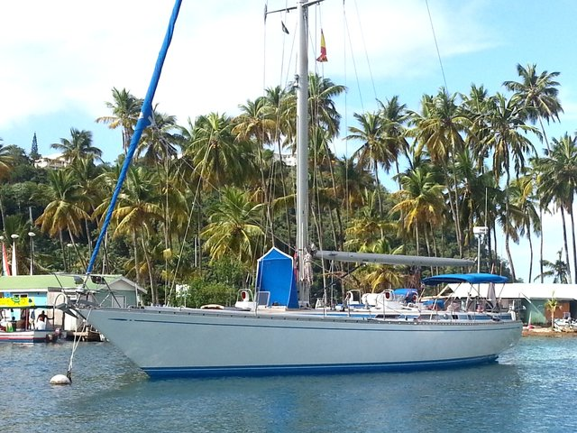Sailboats In The Caribbean: Marina With Yachts And Jetty As Filming Location On