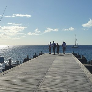 Location in Martinique on wooden pier
