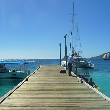 Jetty marina location caribbean yacht film production