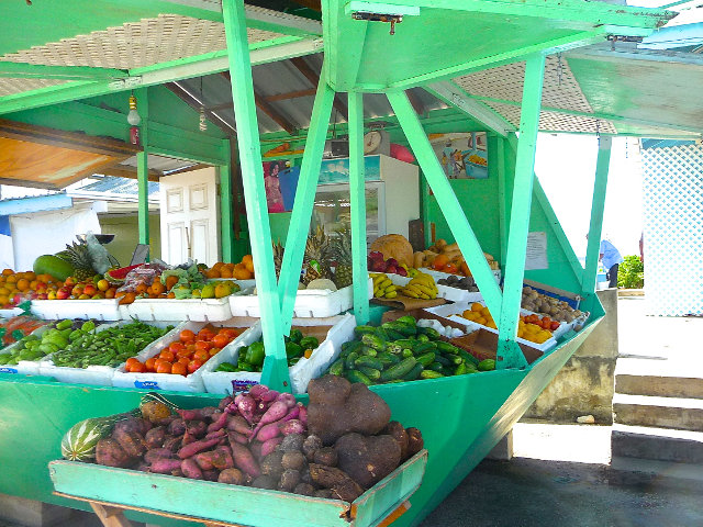 Market stand location Caribbean