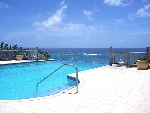 Infinity pool location on Caribbean cliff