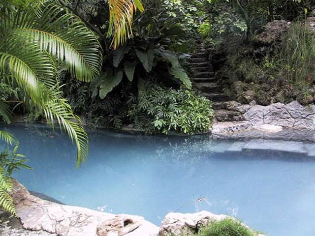 Natural tropical swimming pool Caribbean