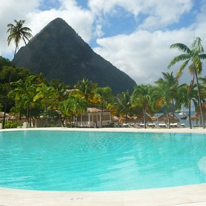Luxury resort swimming pool location St. Lucia