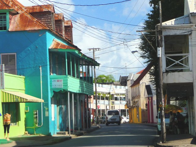 Colourful Caribbean brick house street locations