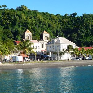 French colonial fishing town in the Caribbean