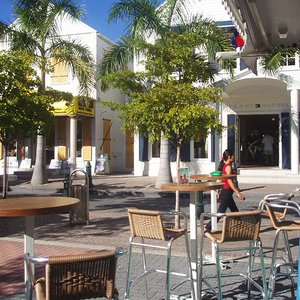 Town cafe in Caribbean street