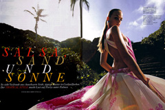 Caribbean Sunset in Lush Landscape Location, Amica Magazine - Photos: Ricardo Tinelli