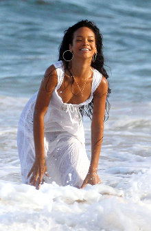 Rihanna photo campaign for Barbados Tourist Office