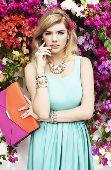 Kate Upton for Accessorize advertising campaign photo shooting Caribbean