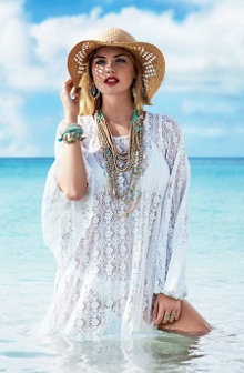 Kate upton accessorize caribbean sea photography