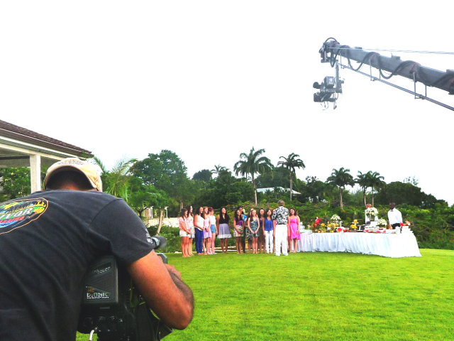 Filming of Canadian TV show with local equipment rented in Barbados
