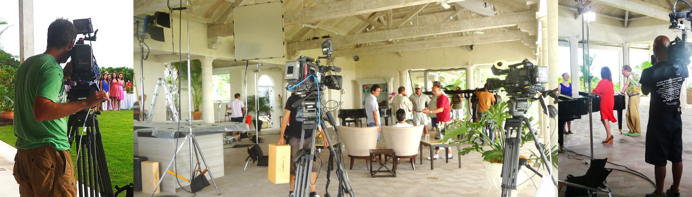 Light, grip, camera equipment rental for TV production in the Caribbean