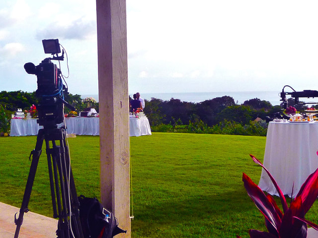 Television show filming with grip rental from Barbados
