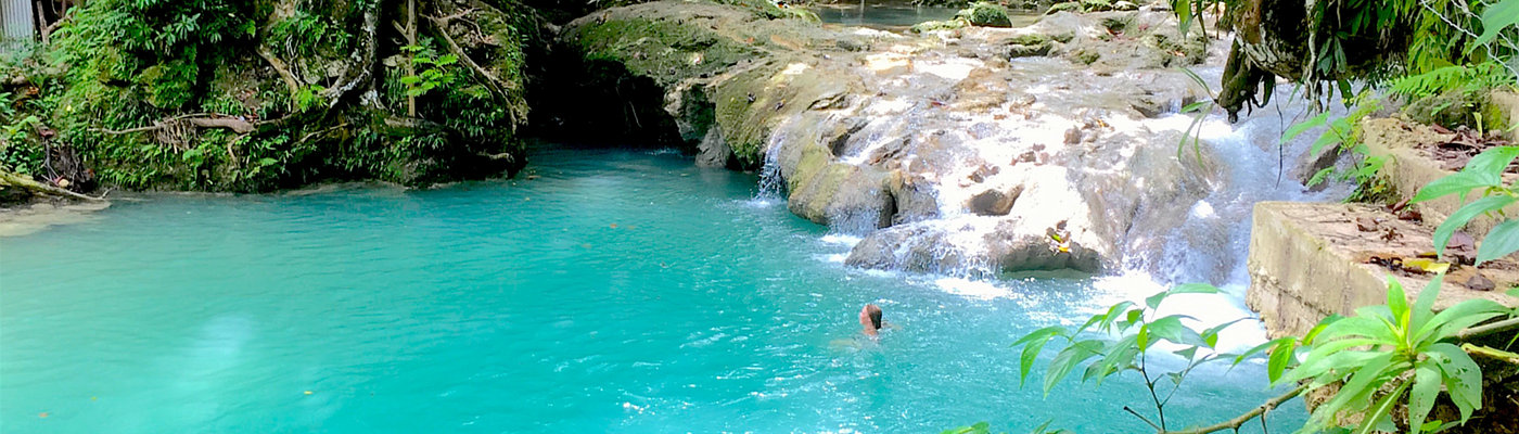 Waterfalls jungle pools Caribbean